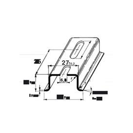 Tira Carril DIN 3575 35x150mm 2 metros