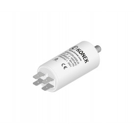 Condensador Trabajo Motor 12uF 450Vac medidas 40x70mm terminales FASTON y M8