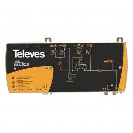 Central Amplificadora TV DTKOM 4E/1S FM-VHF-UHF-UHF