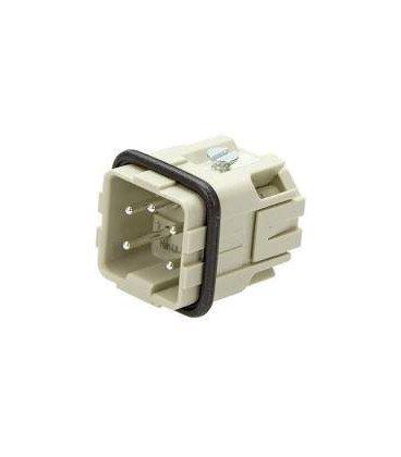 Conector HAN Macho Han A 5 pin 4+PE 10A 400V