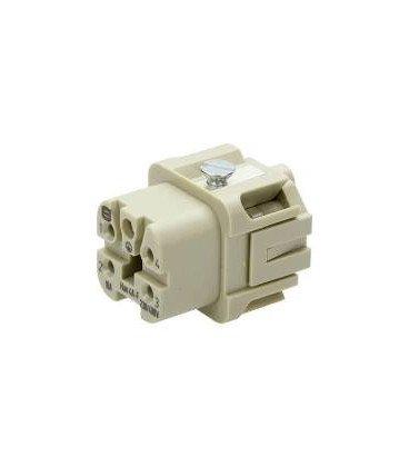 Conector HAN Hembra Han A 5 pin 4-PE 10A 400V