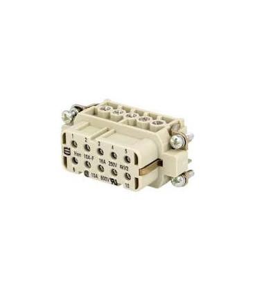 Conector HAN Hembra Han A 10 pin-PE 10A 250V
