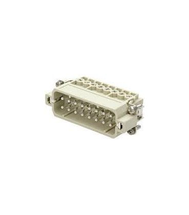 Conector HAN Macho Han A 16 pin+PE tamaño 16A