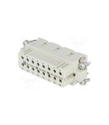 Conector HAN Hembra 16pin + PE tamaño 16A