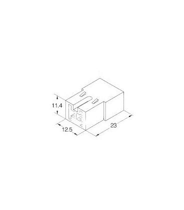 Conector portahembra 2 vias terminales 6,3mm