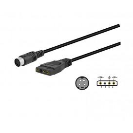 Cable MiniDin Hembra 4pin-Molex 3 pin WIR043