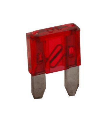 Fusible Plano Miniatura 10Amp Rojo 11x17