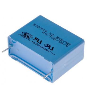 Condensador Polipropileno 2,2uF 310VacX2 R27,5mm