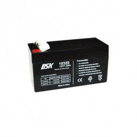 Bateria PLOMO 12V 1,3Ah AGM 97x45x52mm DSK