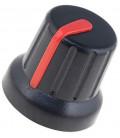 Boton de Mando con Indicador ROJO para Eje 6,35mm