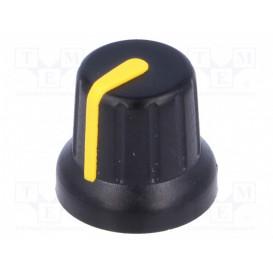 Boton de Mando con Indicador AMARILLO para Eje 6,35mm