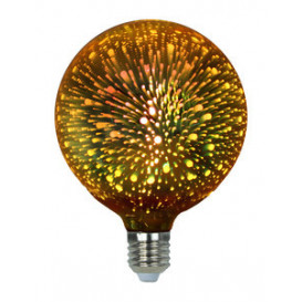 Bombilla Decorativa LED G125 3D 4W 230Vac E27 DORADA