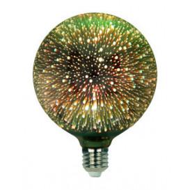 Bombilla Decorativa LED G125 3D 4W 230Vac E27 VERDE