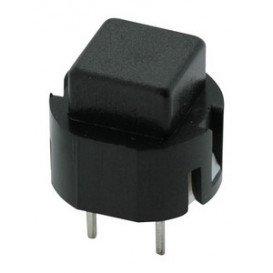 11.516.P/C/N Pulsador boton Cuadrado Negro