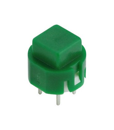 Pulsador boton Cuadrado Verde