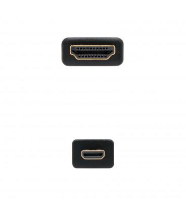 Cable HDMI a MicroHDMI 0,8m NANOCABLE