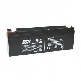 Bateria PLOMO 12V 2,3Ah AGM medidas 179x35x61mm marca DSK