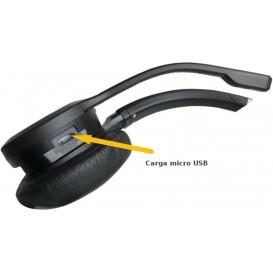 Auricular Monoaural con Diadema Bluetooth