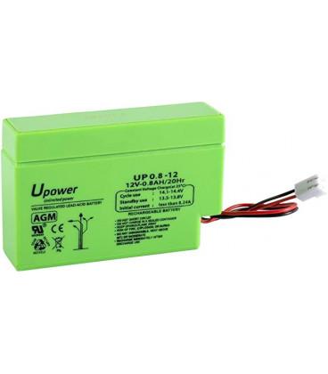 Bateria PLOMO 12V 0,8Ah AGM medidas 96x25x62mm ENERGIVM