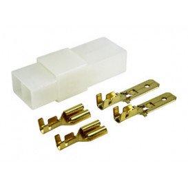 Caja conectora 2 conectores 4 terminales en blister