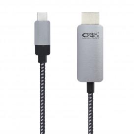 Cable USB-C a HDMI DP2.0  Negro (1.8 m.)