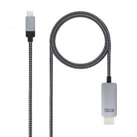 Cable USB-C a HDMI DP2.0 Negro  (3 m.)
