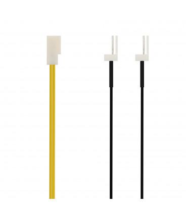 Cable Alimentacion Interno PC 3PIN Hembra a 2 3PIN