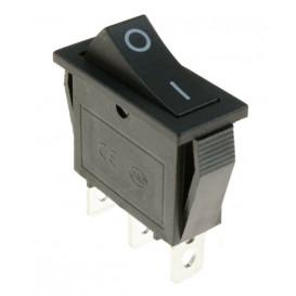 Conmutador Basculante Unipolar NEGRO 16A/250V