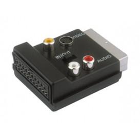 Adaptador Euro Macho -Hembra a 3RCA MiniDin4P con Conmutador