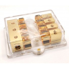 Distribuidor corriente 4 Vias c/portafusible