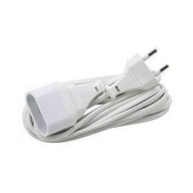 Prolongador Electrico 4mm 10A BLANCO 5m