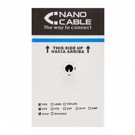 Bobina 305m Cable FTP Cat5e Rigido CCA NANOCABLE