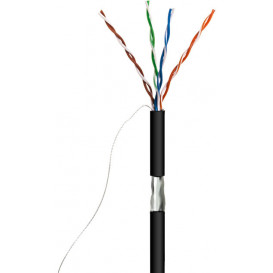 Cable FTP Cat5e Exterior CCA NEGRO (305m)