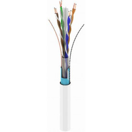 Bobina 305m Cable FTP Cat6 Rigido CCA BLANCO