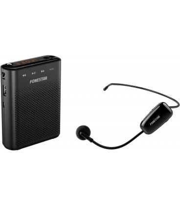 Amplificador Portatil 18W USB/microSD/MP3 con Microfono Inalambrico