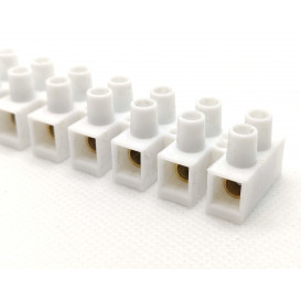 Regleta Conexion 12 Contactos 10Amp 6mm  BLANCO