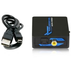Convertidor Audio Digital Toslink Coaxial a Audio Analogico RCA