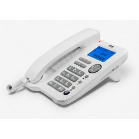 Telefono Fijo Sobremesa LCD BLANCO