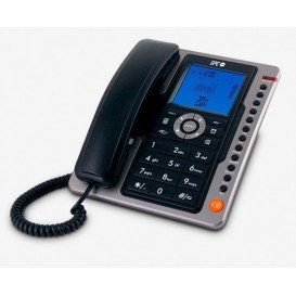Telefono Fijo Sobremesa LCD NEGRO