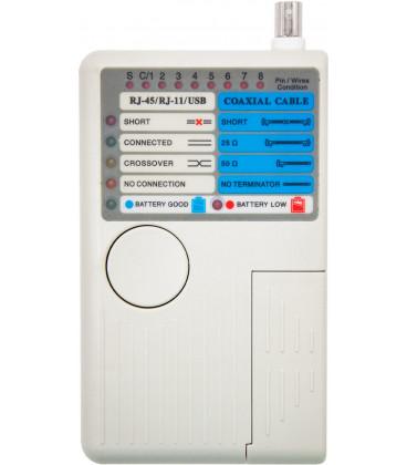 Testeador Red RJ11 RJ12 RJ45 USB BNC