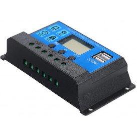 Regulador Carga Solar 10Amp 12/24Vdc con LCD