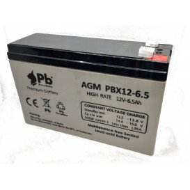 Batería PLOMO 12V 6,5Ah UPS/Sais  151x53x94mm PBX