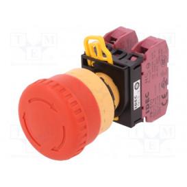Interruptor Parada Emergencia DPST-NC Push-Pull 10A/120V