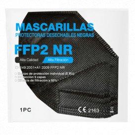 Mascarilla FFP2 NEGRA 5 Capas de Protección (10uds)