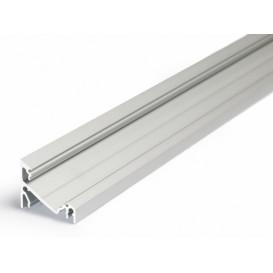 Perfil Aluminio Tira LED Esquina Opaco 14mm 1m