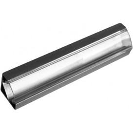 Perfil Aluminio Esquina LED Difusor Transparente 2m