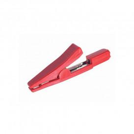 PC10R Pinza cocodrilo roja aislada banana 2mm