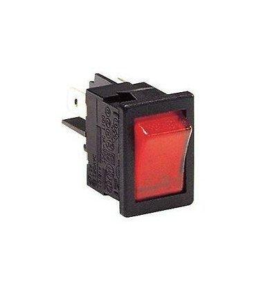 Interruptor Basculante Bipolar Luminoso Rojo Fasto