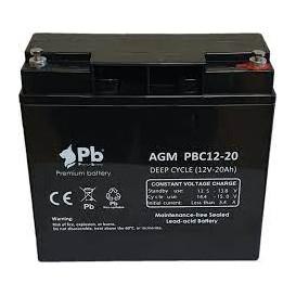 Bateria PLOMO 12V 20Ah CICLICA Para VEHICULOS