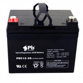 Bateria PLOMO 12V 35Ah CICLICA Para VEHICULOS